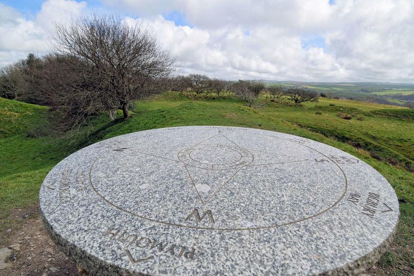 Blackdown Rings Devon UK Landscape Outdoors Sky Tree Nature Devon South Hams Blackdown Rings Compass