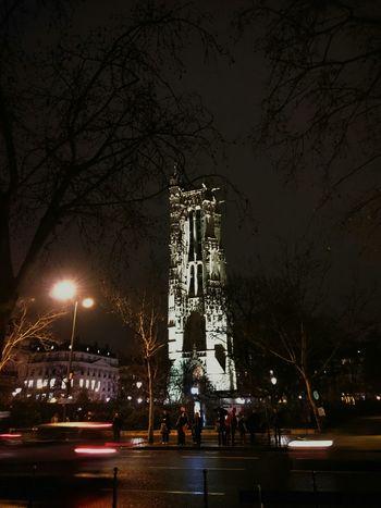 Paris, France  Tour Saint-Jacques Nightphotography Night Lights