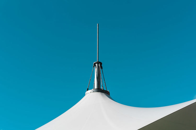 Spire Of Tent Against Sky