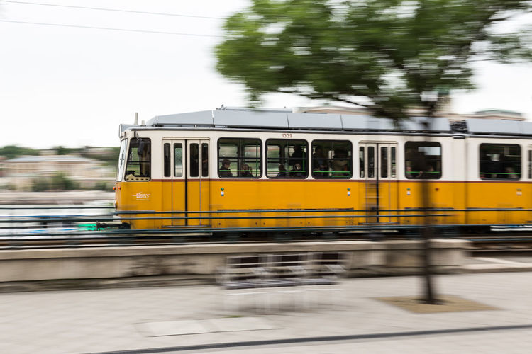 Blurred Motion Of Cable Car