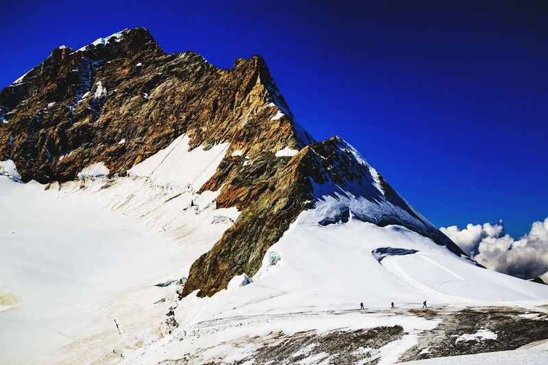 #jungfrau EyeEm Selects Winter Snowcapped Mountain Beauty In Nature Scenics Mountain Range Extreme Sports