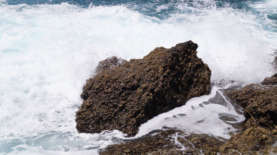 Atlantic Beauty In Nature Close-up Crashing Day Force Island Motion Nature No People Outdoors Porto Santo Porto Santo Island Portugal Power In Nature Rock Rock - Object Rock Formation Rough Scenics Sea Sky Splashing Water Wave