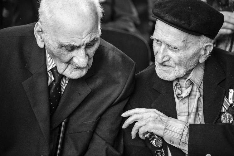 Veterans of World War II is attending the event dedicated to them Tbilisi 2017. Each of the Veterans are more then 95 years old. They are heroes of the war The Photojournalist - 2018 EyeEm Awards Adult Lifestyles Males  Men Portrait Real People Senior Adult Senior Men