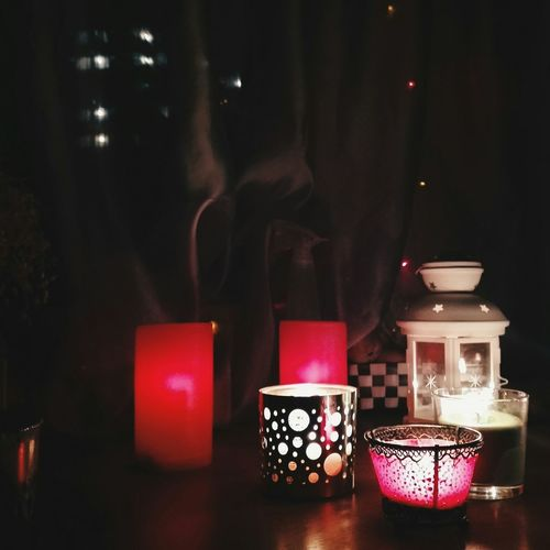 Candles is my Life 😌 Light Candlelight Enjoying Life Red Romantic Atmosphere
