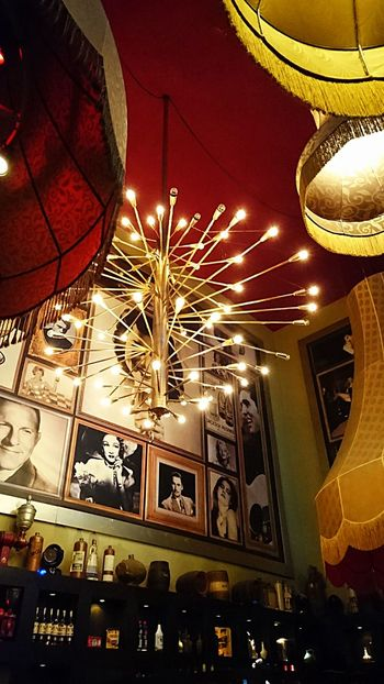 Lightbulb Moment... From My Point Of View Over My Head Lightbulb And There Was Light... Ceiling Lights at a Cafe in Rotterdam (c) 2016 Shangita Bose All Rights Reserved Showcase: February 43 Golden Moments