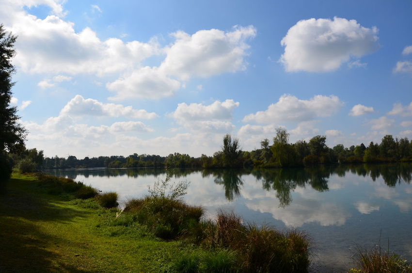 Nikon Beauty In Nature Cloud - Sky Day Grass Growth Lake Landscape Nature No People Outdoors Reflection Scenics Sky Tranquility Tree Water Weitmannsee
