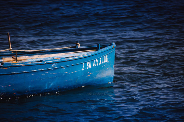 View of boat in sea