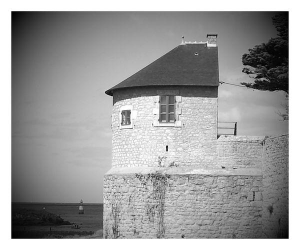 Carte Postale Black And White Citadelle Port Louis France Battlement Historical Monuments Outdoor