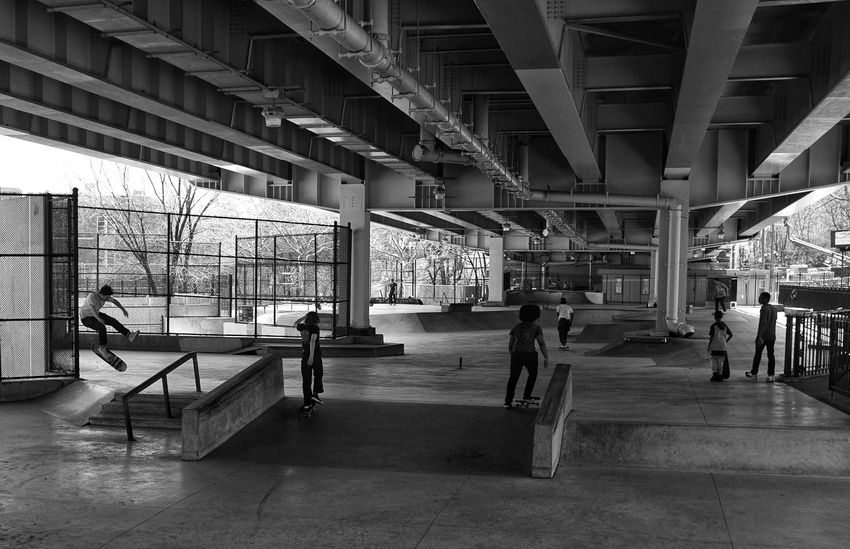 Skateboarding NYC Street Photography Brooklyn Architecture Built Structure Day Transportation Building Exterior Incidental People City People