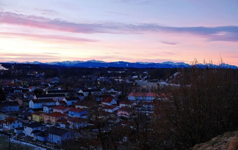 Bavaria Schongausunrise Architecture Building Exterior City Cityscape My Hometown On My Way To Work Sunrise