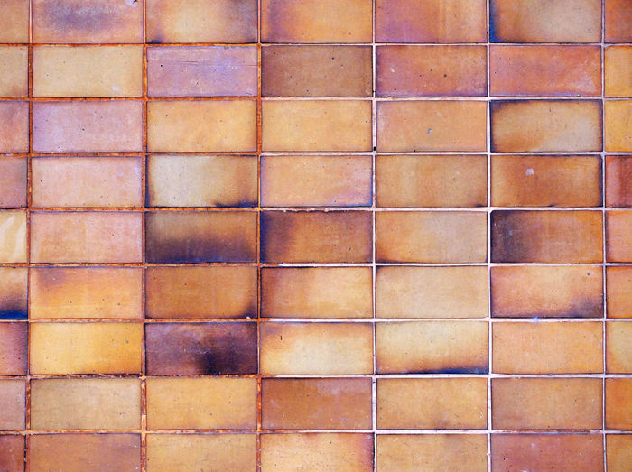 Pattern Backgrounds Full Frame Built Structure No People Architecture Wall - Building Feature Tile Textured  Brick Wall Day Flooring Brick Wall Brown Close-up Shape Geometric Shape Design Outdoors Background Abstract Building Exterior Grunge Texture