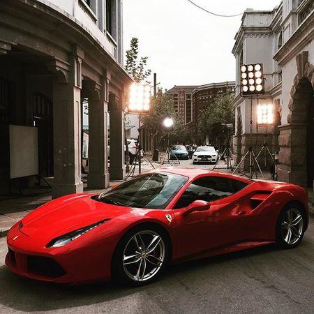The red queen with black magic. Ferrari488GTB Topgear