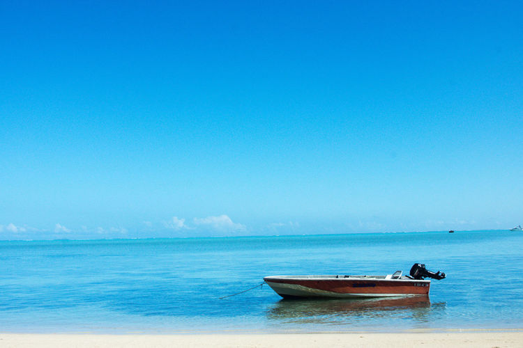 Beauty In Nature Copy Space Horizon Horizon Over Water Nautical Vessel No People Outdoors Tranquil Scene Tranquility Transportation Water