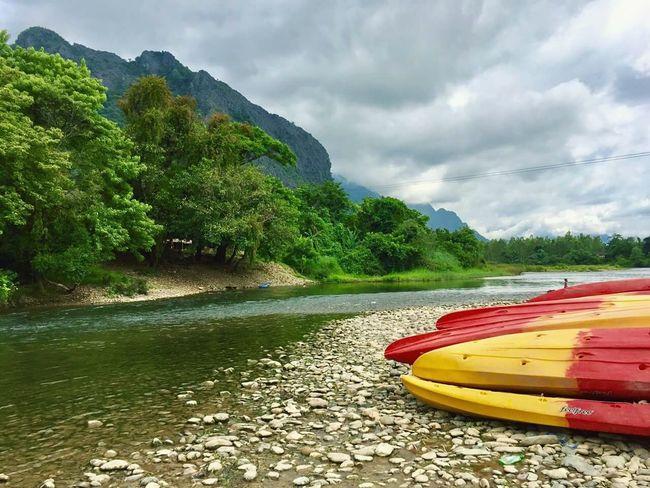Tree Nature Outdoors Mountain Cloud - Sky Sky Water Kayak