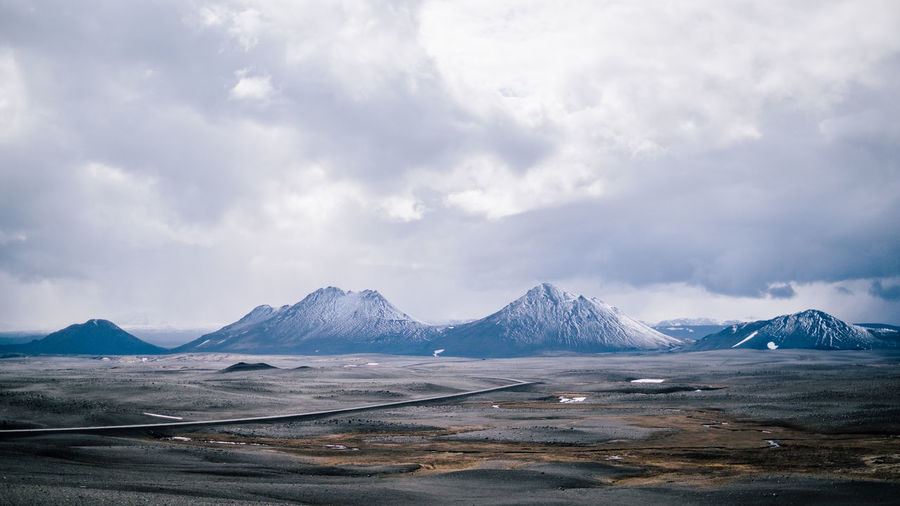 iceland roadtrip Beauty In Nature Cloud - Sky Cold Temperature Day Environment Landscape Mountain Mountain Peak Mountain Range Nature No People Scenics - Nature Sky Snow Snowcapped Mountain Tranquil Scene Tranquility Water Winter