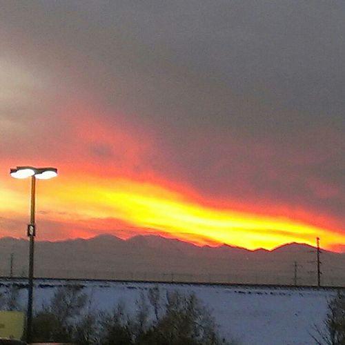 Sky Fire In Sky