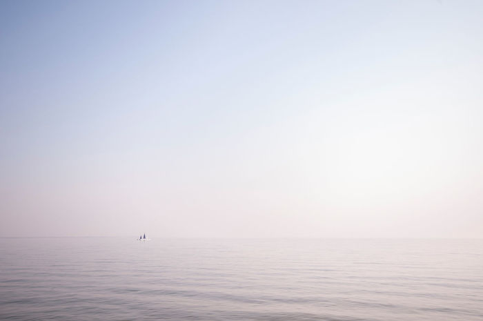 Anhui,China Balance Calm Hefei Horizon Horizon Over Water Lake Lake Chao Learn & Shoot: Balancing Elements Nature Negative Space Ocean Rippled Sea Seascape Spot Tranquil Scene Tranquility Waterfront