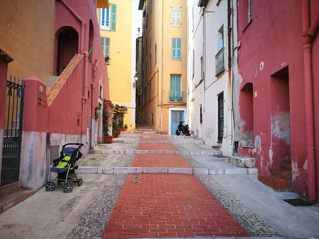 Menton, France Building Exterior Architecture The Way Forward Built Structure Street City Outdoors Day No People Colour Of Life Colors