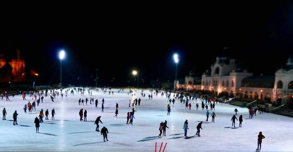 Ice Skating in Budapest EyeEm Selects Winter Sport Sport Cold Temperature Ice Rink Ice Snow Winter Night Ice-skating Ice Hockey Group Of People Illuminated Crowd Large Group Of People Skating Leisure Activity Frozen Fun Real People Spectator