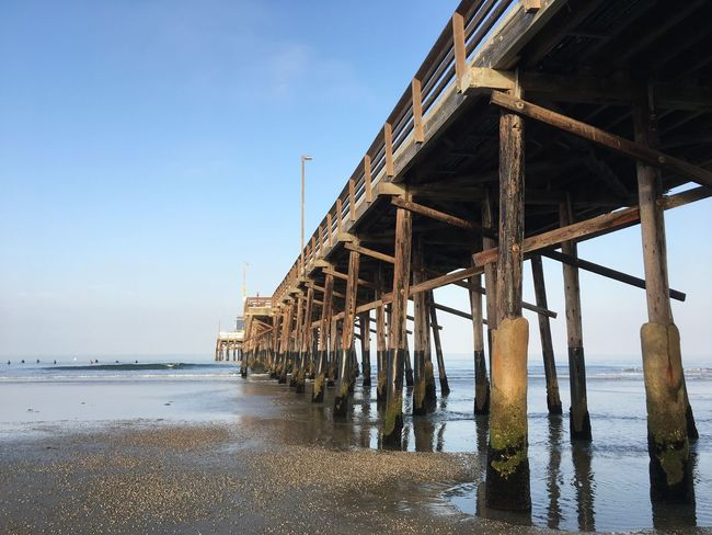 EyeEm Selects Water Architecture Sea Built Structure Pier Beach Day Sky Outdoors Bridge - Man Made Structure Underneath No People Nature Architectural Column Scenics Beauty In Nature Low Tide Low Tide Revelations Wood Structure Wood - Material Wooden Post Wood Wooden Structure