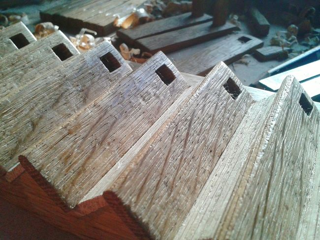 American Oak Stair Dollshouse Fair ReclaimedVintage Oak Staircase Woodworking Carpentry Tudor Dollshouse Tools, Close-up Tools Of The Trade Wood Grain Workshop Love Project
