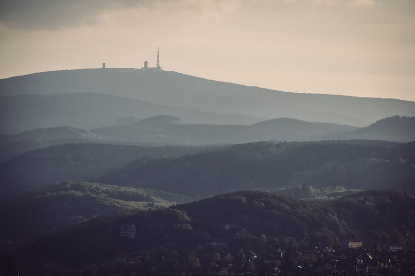 Morning view Wernigerode Architecture Beauty In Nature Brocken Building Exterior Built Structure Day Harz Harzmountains Landscape Mountain Mountain Range Mountains Nature No People Outdoors Religion Scenics Sky Spirituality Tranquility