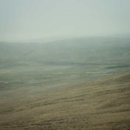 Ribblehead viaduct through haze and ferocious, freezing wind. Yorkshire Dales Viaduct Hiking Trail Landscape #Nature #photography
