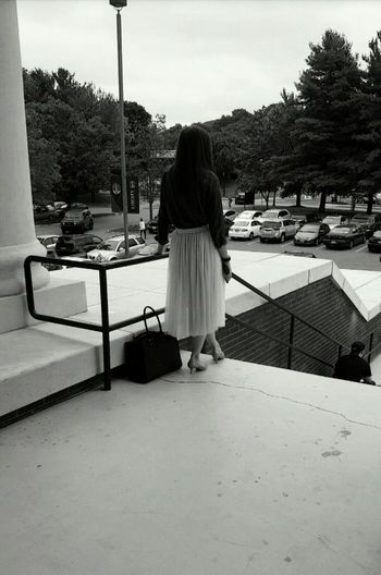 Patiently Waiting... Classy Lady Buisness Woman Vintage Style Collage Virginia Lynchburg  Liberty University Fall Season Fall Beauty Black And White Photography