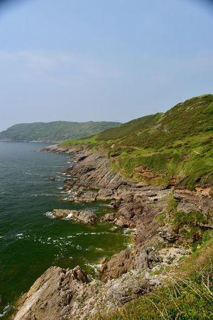Taking Photos Seaview Rocks Coastline Greenery Tranquil Scene Nikon D5500