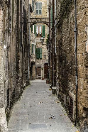 Alley Arch Architecture Medioeval Cities Pitigliano Stone Wall Street Light Tuff