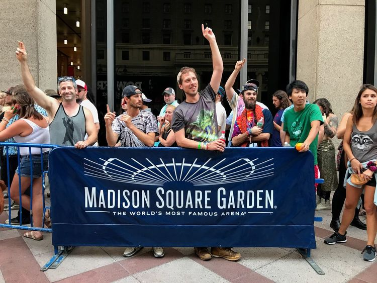 Phish Sold Out Madison Square Garden Venue Mid Adult Mid Adult Women Arms Raised Celebration Togetherness Enjoyment Cheerful Friendship Arts Culture And Entertainment Excitement Cheering NYC