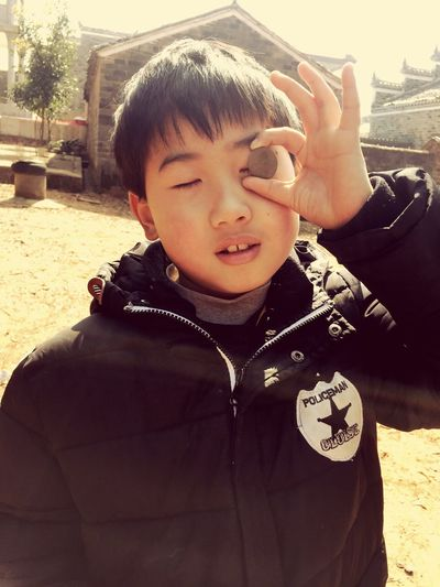 Cute brother~ Childhood Real People Boys Leisure Activity Day One Person Elementary Age Outdoors Stories From The City