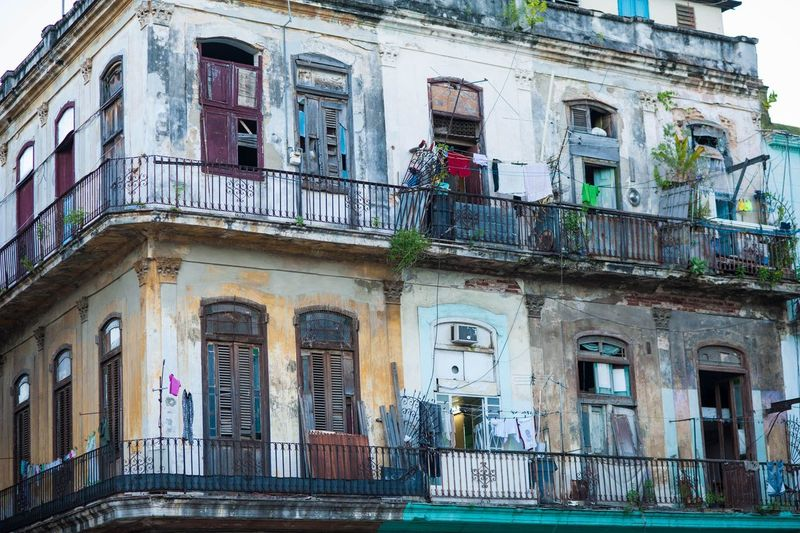 Colonial Facade Havana Architecture Balcony Building Exterior Built Structure Day No People Outdoors Window