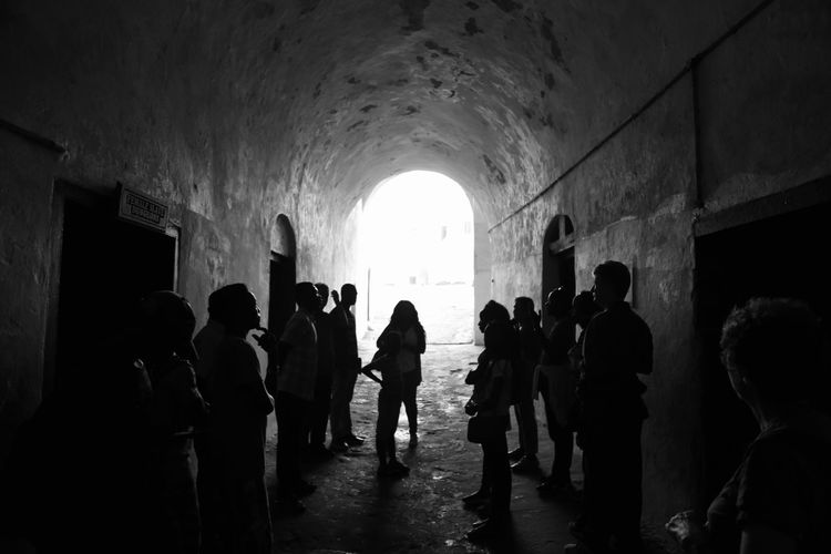 Tunnel Indoors  Silhouette Prison People Riot Adult Day Adults Only castle Castle View  Castle Gate Castle Blackandwhite Blackandwhite Photography Black Background Black And White Collection  Black And White Friday EyeEmNewHere Be. Ready.
