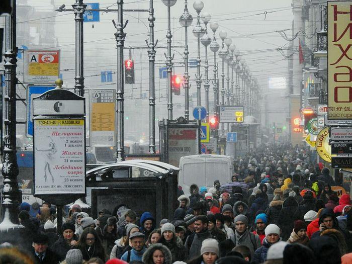 Nevskiy Prospekt Central Street Snow❄⛄ Snow Winter November Real People Large Group Of People Colors Of Sankt-Peterburg Sankt-Petersburg Russia