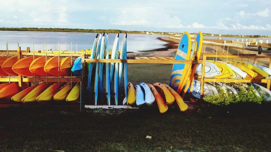 kayaks EyeEm Selects Water Multi Colored Nautical Vessel Beach Sky