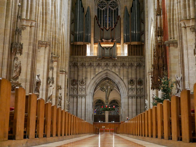Architecture Building Built Structure Arch Building Exterior Place Of Worship Religion History The Past Architectural Column Belief No People Travel Destinations Pipe Organ Spirituality Day Courthouse Gothic Style Ornate Colonnade Ulmer Münster