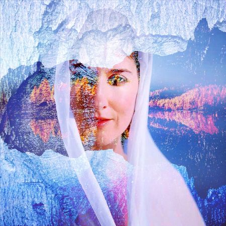 rainbow ice princess Portrait Intuitiveart SoulSisters Soulportrait Double Exposure Magic Moments Magic Mysterious Shaman Mystery