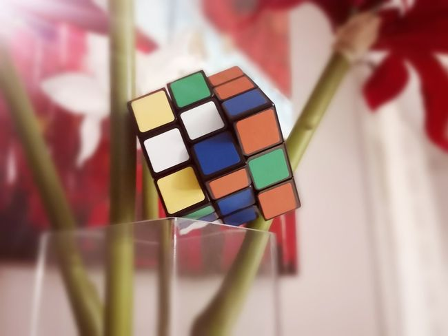 ANTZ WHICH SIDE Children EyeEm Best Shots EyeEmNewHere Yellow Toy Happy Rock Art First Eyeem Photo Family Rubik's Cube Enjoying Life Pretty White Colors Flower Indoors  Multi Colored Variation Palette No People Day Close-up
