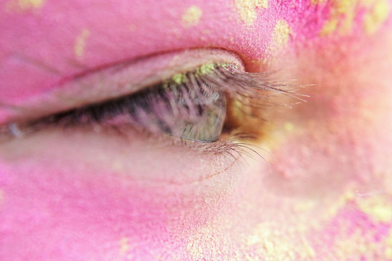 Human Eye One Woman Only Close-up Multi Colored Eyelash People Holi Fun Traditional Festival Lifestyles Event Summer Poland Colorful Friendship Celebration Happiness Holi Festival Fun Times Festival Of Colors Splash Of Colors Szczecin