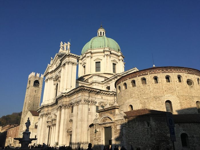 Like A Tourist In My Town Outdoors Architecture Building Exterior Built Structure Dome Spirituality Blue Clear Sky Day Brescia