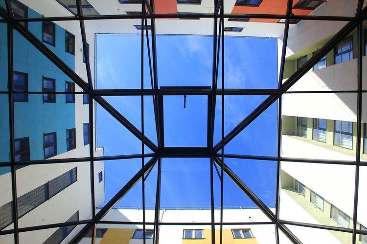回Structure Blue Sky Norway Building Built Structure Color Palette Colour Of Life Canon Bergen Nice EyeEmNewHere EyeEmNewHere Neon Life Colour Your Horizn
