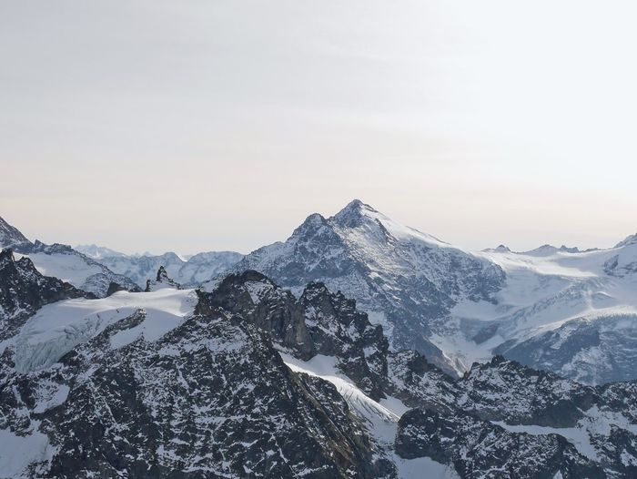 Mount Titlis Titlis,Switzerland Beauty In Nature Cold Temperature Day Landscape Mountain Mountain Range Nature No People Outdoors Scenics Sky Snow Snowcapped Mountain Tranquil Scene Tranquility Winter Shades Of Winter