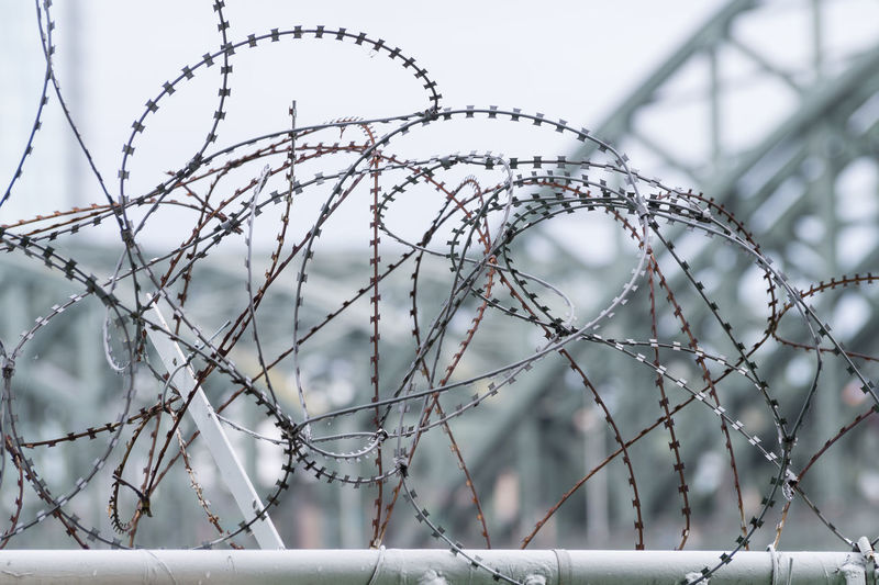 Army Barbed Wire Barbwire Close-up Day Detail Details Draht Focus On Foreground Forbidden From My Point Of View Frontier Iron Military Natodraht Objects Prison Protection Razor S Secure Security Stacheldraht