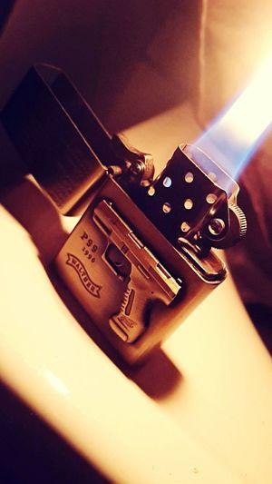Fire from the Lighter #lighter #fire #burn #Zippo #walther #p99 Fire Lighter Burn Lightning WaltherP99 Walther P99 Zippo First Eyeem Photo