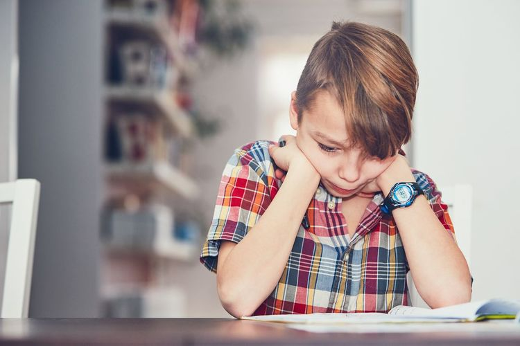Learning at home. Little boy doing difficult math homework. Children Contemplation Creativity Effort Home Innocence Learning Student Boy Child Childhood Concentration Cute Difficult Education Elementary Age Home Interior Homework Intelligence Lifestyles One Person Real People School Supplies Studying Table