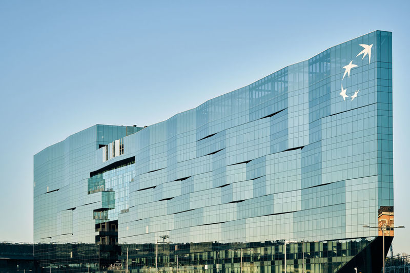 Architecture Built Structure Sky Building Exterior Modern Glass - Material Clear Sky City Office Building Exterior Building Office Nature Blue Day Low Angle View Reflection No People Outdoors Copy Space Business
