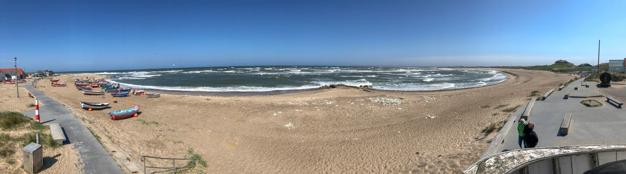Panoramic view of Klitmøller Beach Klitmøller Beachphotography Ocean View Ocean Beach Water Sea Beach Land Sky Sand Incidental People Horizon Over Water Horizon Scenics - Nature Vacations Holiday Trip Blue High Angle View Outdoors Beauty In Nature Nature Day Clear Sky