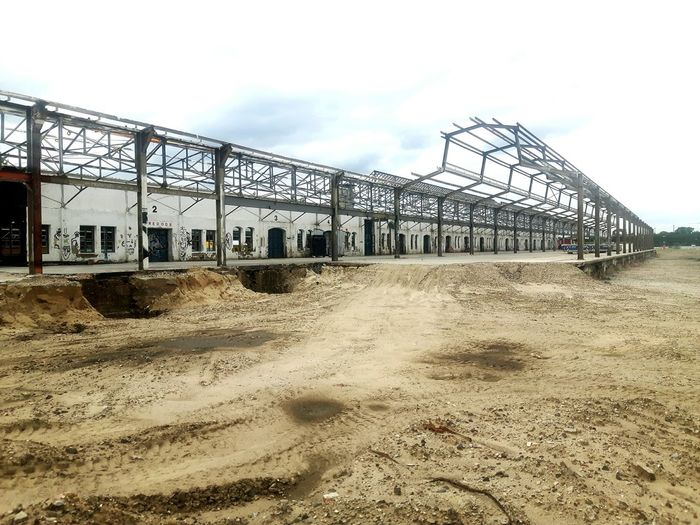 Steetphotography Steel Structure  Steel Hall Construction Site Construction Work Contruction Sandpit Sand Large Construction