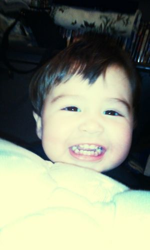 i told him cheese and he smiled like this :) too cute <3